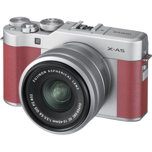 FUJI X-A5 Pink KIT XC 15-45mm F3.5-5.6 Silver