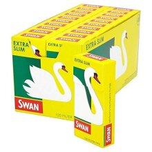 10 PACK OF SWAN EXTRA SLIM CIGARETTE FILTER TIPS(HALF BOX) = 1200 TIPS