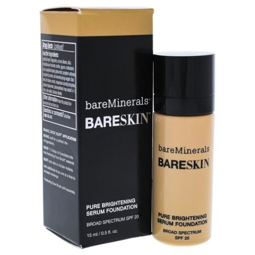 BareMinerals I0086033 0.5 oz BareSkin Pure Brightening Serum Foundation SPF 20 for Womens - 07 Bare Natural