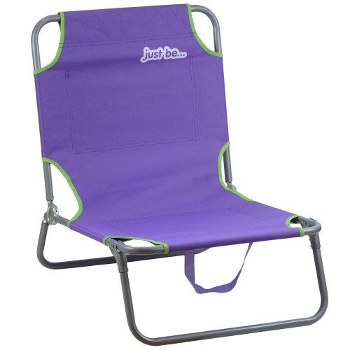 just be... Purple Beach & Garden Folding Sun Chair Lounger