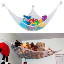 Toy Hammock Large Storage Mesh Net Teddy Bear Organizer Baby Bedroom Nursery