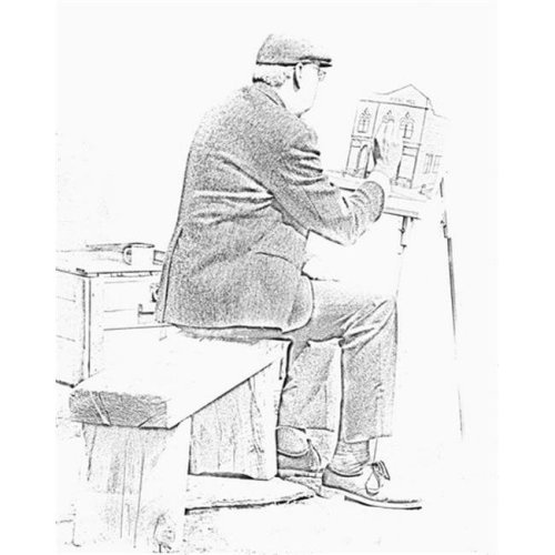 Sketch of Old Man Painting - Alberta Canada Poster Print by Ron Harris, 24 x 30 - Large
