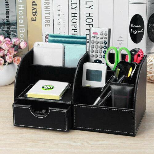 Desk Organiser Card Pen Phone Remote Control Holder Storage Box
