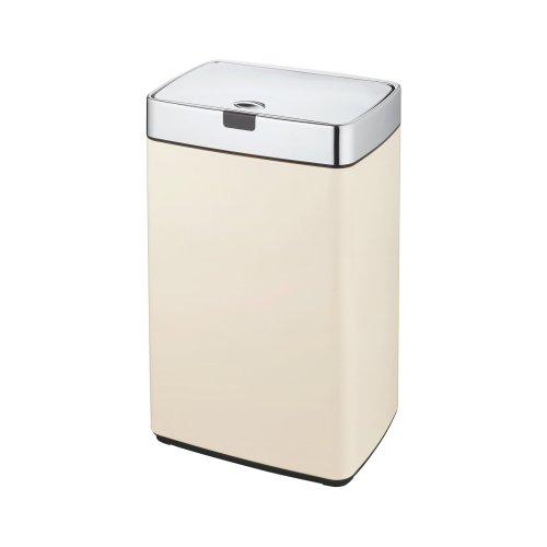 Dihl 35L Cream Iris Steel Touchless Sensor Kitchen Waste Dust Bin Automatic Lid