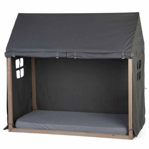 CHILDHOME Bed House Cover 150x80x140cm Anthracite Kids Toddler Cot Surround