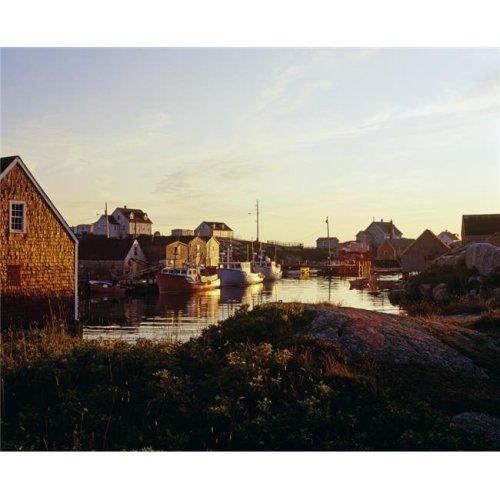 Fishing Village in Peggys Cove Nova Scotia Canada Poster Print by David Chapman, 16 x 13