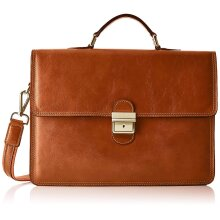 39x29x8 cm - Leather Briefcase - Made in Italy