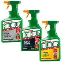 1.2L Roundup Fast Action garden Weed Root Killer Spray Ready to Use Weedkiller
