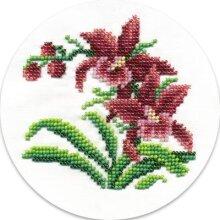 Klart Bead Embroidery Kit - Wild Orchids