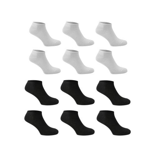 6 Pairs mens Plain White Trainer Socks 6-11