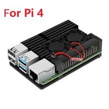 Raspberry Pi 4 4B Case Enclosure CNC Aluminum Cover Heatsink Cooling Fan for Raspberry Pi 4 Model B