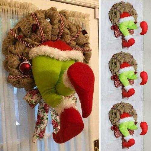 How the Grinch Stole Christmas Burlap Wreath Thief Stole Santa Garland
