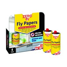 Zero In Fly Paper Pk4 (Pack of 24)