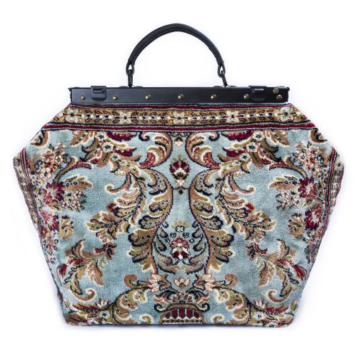 SAC-VOYAGE Blossom Silver - large Mary Poppins Victorian CARPET BAG