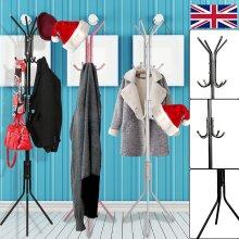 12 Hook Coat Stand Floor Standing Rack Clothe Hang
