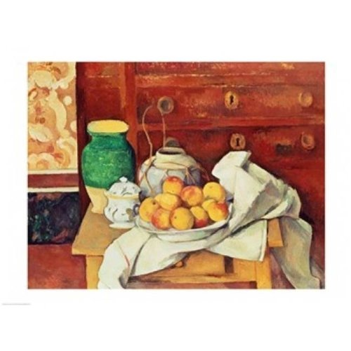 Still Life with A Chest of Drawers 1883-87 Poster Print by Paul Cezanne - 36 x 24 in. - Large