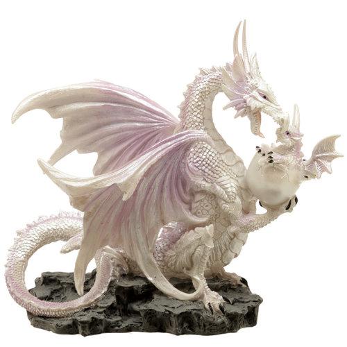 Ice Mother Fantasy Winter Warrior Dragon Figurine