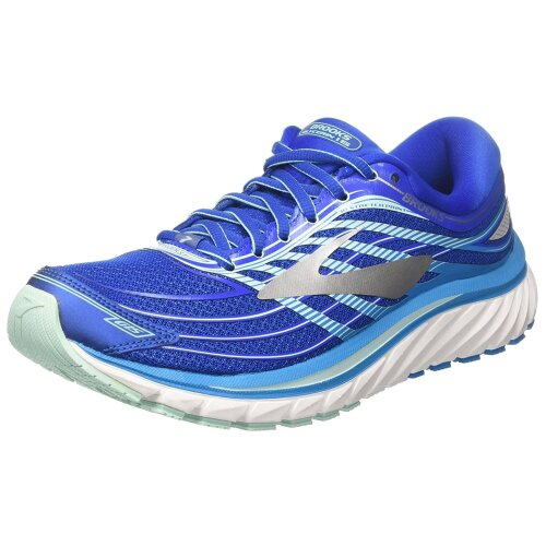Brooks Womens Glycerin 15 Road Running Shoes, Blue/Mint/Silver
