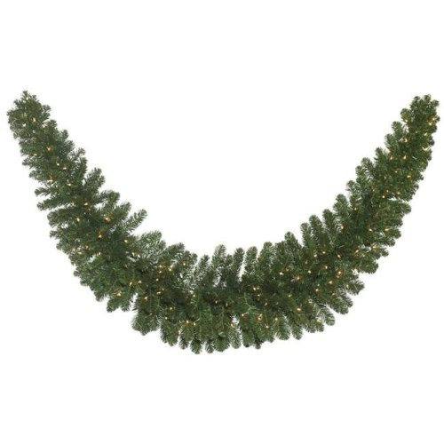 Vickerman C164921 Oregon Fir Dura-Lit Swag Garland with Clear Lights - 9 ft.