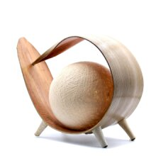 Natural Coconut Lamp - Natural Wrapover