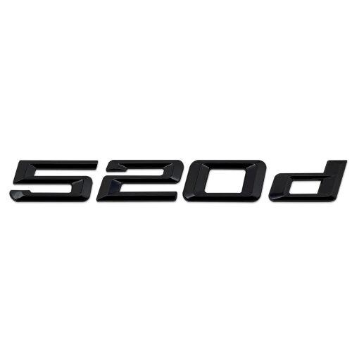 Gloss Black BMW 520d Rear Boot Badge Emblem Number Letter For 5 Series F07 F18 G30 G31 G38