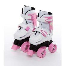 Sk8 Zone Unicorn Quad Skates Kids Roller Boots Pads Helmet Skate Set Size 9-12