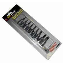 10pc 3/8'' Torx Socket Set - 38 Bit Rail Star Drive T10 T55 Torque Male Sockets -  torx 38 set bit socket rail star 10pc drive t10 t55 torque male