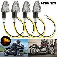 4x Universal Motorcycle Indicators Motorbike15 LED Turn Signal Light Bubles 12V