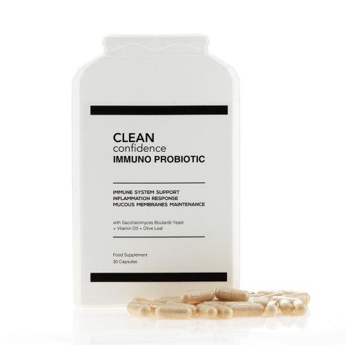 CLEAN Confidence IMMUNO PROBIOTIC Immune System Support - 30 Capsules