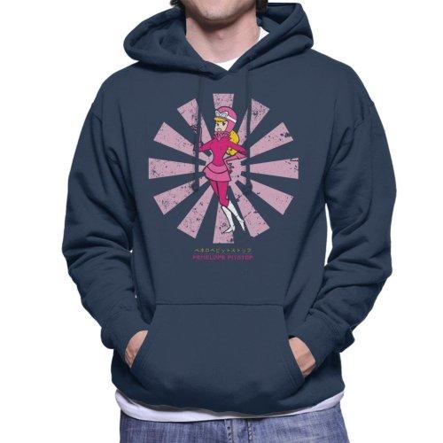 Penelope Pitstop Retro Japanese Wacky Races Men's Hooded Sweatshirt
