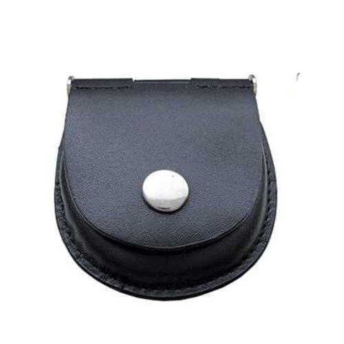 Leather Pocket Watch Belt Pouch Holder in Black