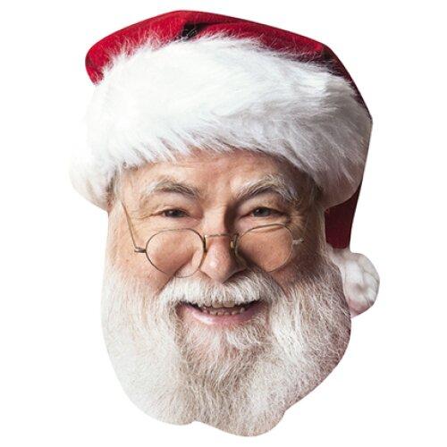 Santa clause tv star celebrity party face fancy dress