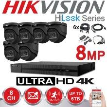 HIKVISION 8MP CCTV 4K UHD DVR 8CH OUTDOOR 6X VIVID HD CAMERA KIT(2TB)
