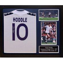 Framed Glenn Hoddle signed 1978 Spurs shirt with COA & proof
