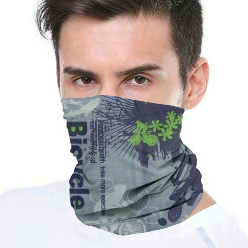 (Bicycle) Bandana Face Covering Mask Biker Tube Snood Scarf Neck Cover