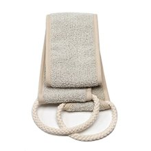 Aquis - Exfoliating Back Scrubber, Deep Clean & Invigorate Your Skin, Linen (4 x 30 Inches)