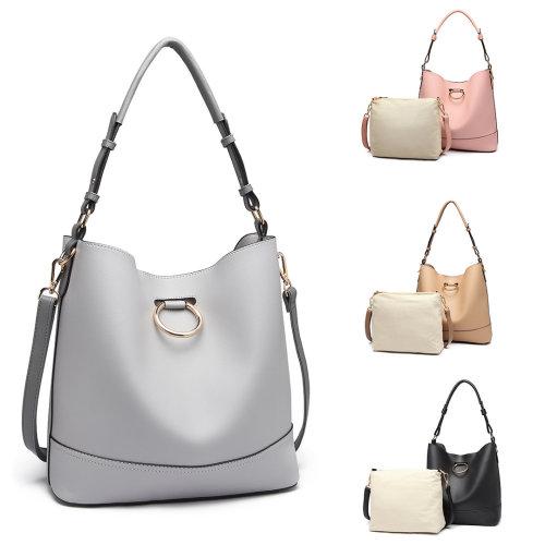 Miss Lulu Women Hobo Shoulder Bag Handbag Tote Purse Set 2 Piece