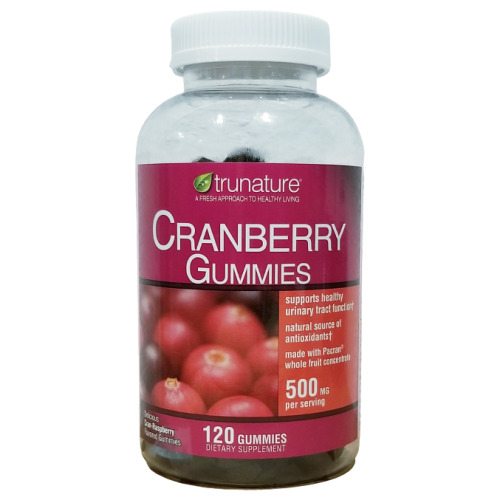 TruNature Cranberry Gummies, 500 mg per serving, 120 ct