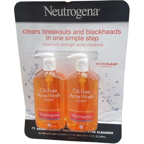 Neutrogena Oil Free Acne Wash, 18.2 Ounce