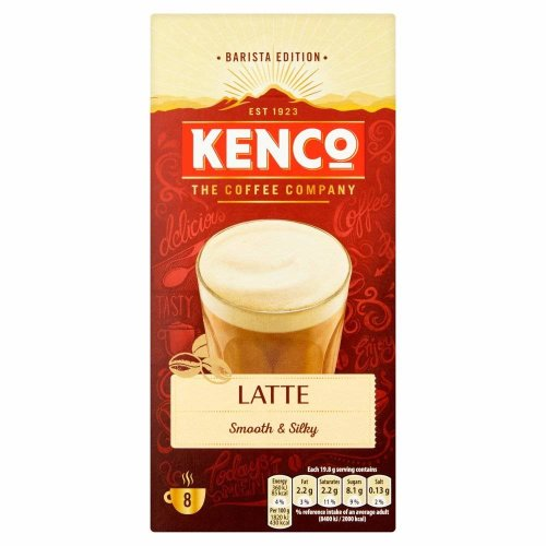 Kenco Latte Instant Coffee Sachets, Pack of 5, 40-Count
