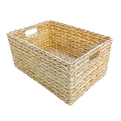 Large Rectangular Water Hyacinth Storage Basket