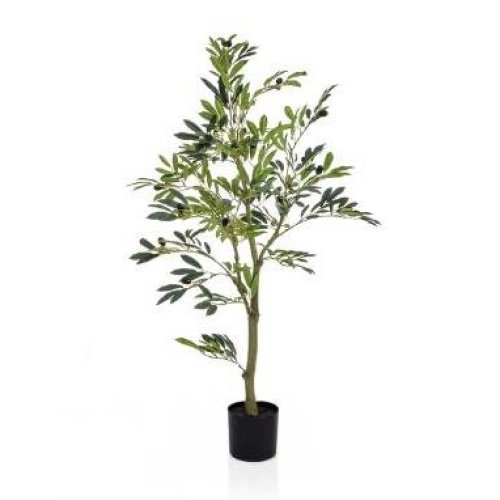 Artificial Silk Olive Fruit Tree - 120cm, Green
