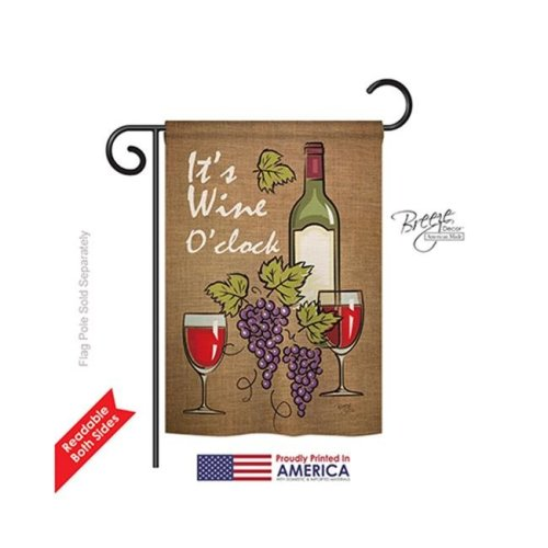 Breeze Decor 67033 Its Wine 2-Sided Impression Garden Flag - 13 x 18.5 in.
