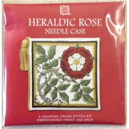 Mackintosh Rose Counted Cross Stitch Kit By Textile Heritage