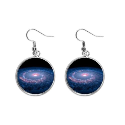 Music Notation Combination Colorful Pattern Ear Dangle Silver Drop Earring Jewelry Woman