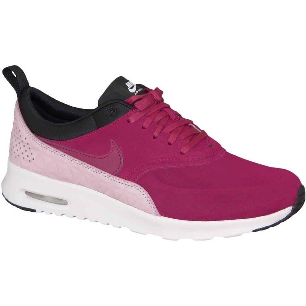 (4.5) Wmns Nike Air Max Thea Premium 845062-600 Womens Burgundy sneakers