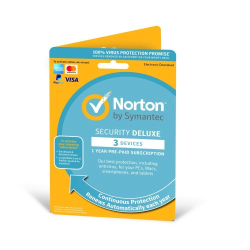 Norton Security Deluxe 2020 1 User & 3 Devices - 1 Year Subscription With Automatic Renewal