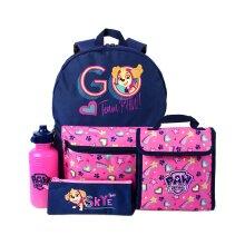 Paw Patrol Girls Backpack Skye Lunch bag, Pencil Case & Bottle 4 Piece Set