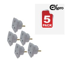 UK to Germany Gibraltar Greece Travel Adaptor Plug 2 Pin Adapter CE Approved
