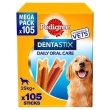 Pedigree Dentastix Dental Dog Treats Large Dog 105 Dog Chews Oral Teeth Cleaning